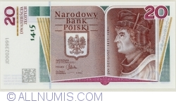 Image #1 of 20 Zlotych 2015 -  600th Anniversary of the Birth of Jan Długosz