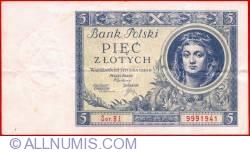 Image #1 of 5 Zlotych 1930 (2. I.)