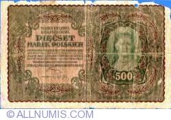 Image #1 of 500 Marek 1919 (23. VIII.) - I Serja