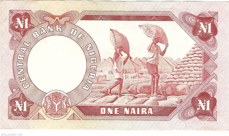 1 Naira Nd 1973 1978