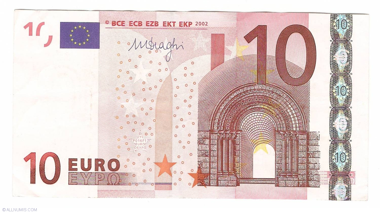 20 euro banknote 2002 UNC Prefix-X Germany sign Mario Draghi