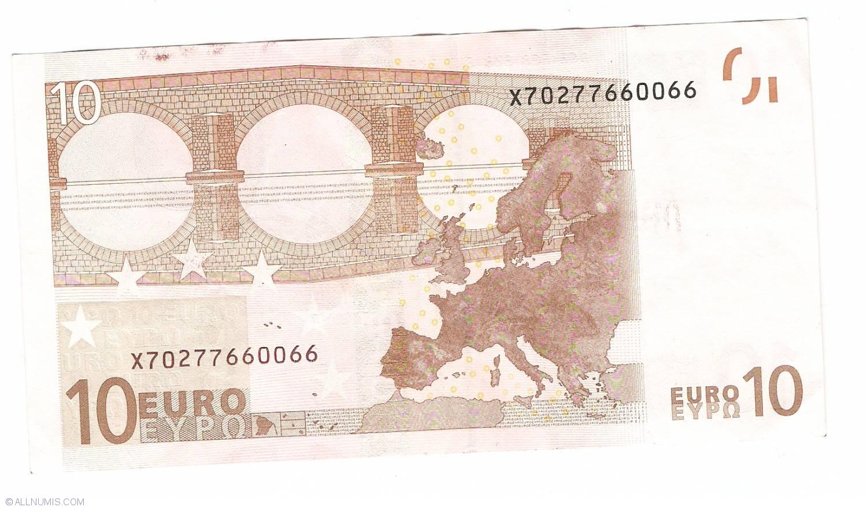 Mario Draghi 20 euro banknote 2002 UNC Prefix-X Germany sign