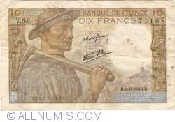 Imaginea #1 a 10 Franci 1943 (9. IX.)
