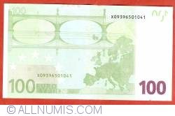 100 Euro 2002 X (Germany)