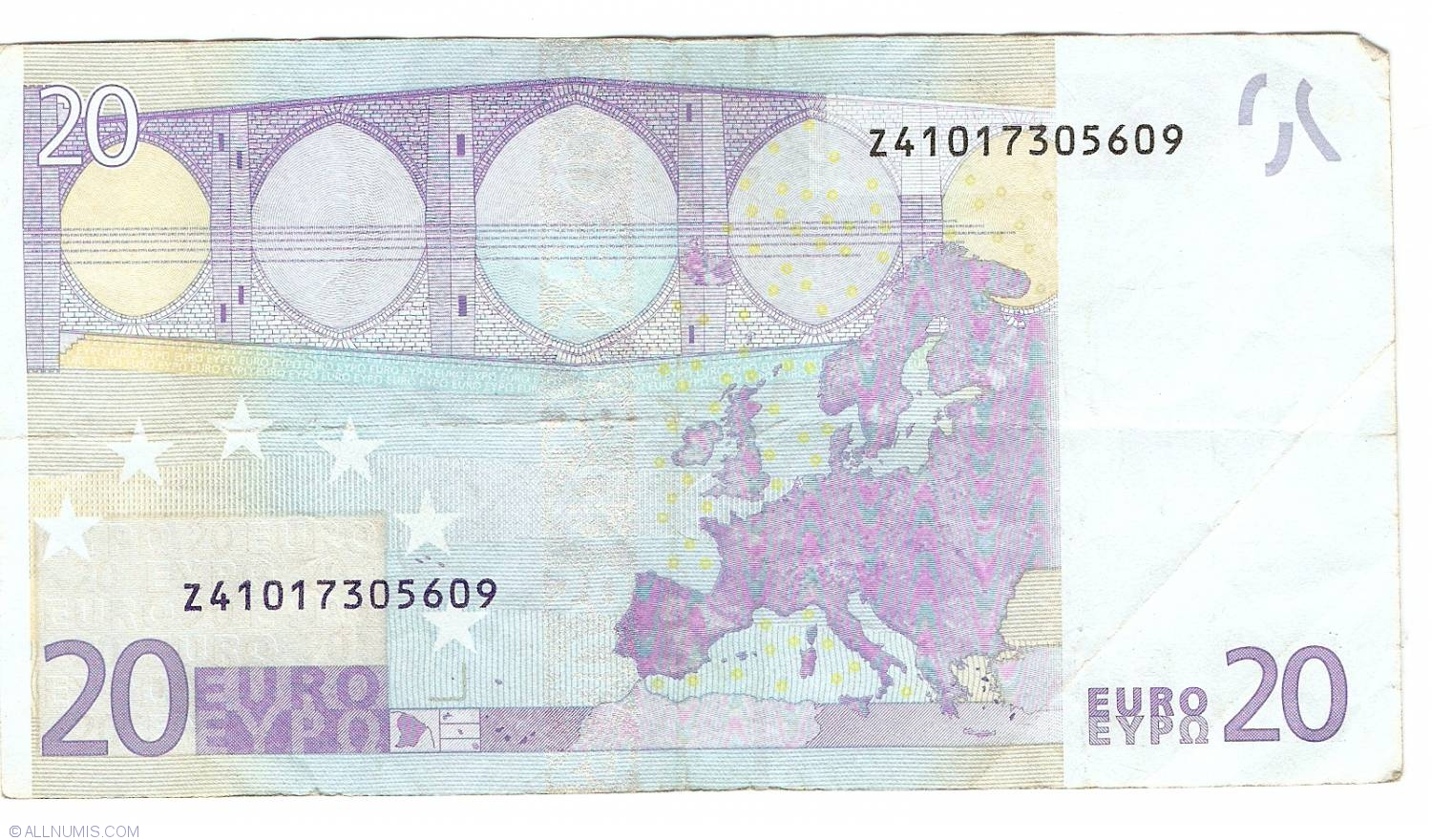 20 euro 2002 z belgium 2002 issue 20 euro signature willem f