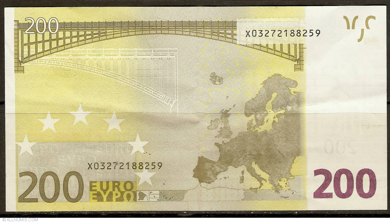 200 euro 2002 x germania emisiunea 2002 200 euro. Black Bedroom Furniture Sets. Home Design Ideas