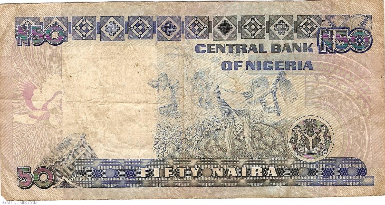 NIGERIA 50 NAIRA ND 1991 P 27C UNC