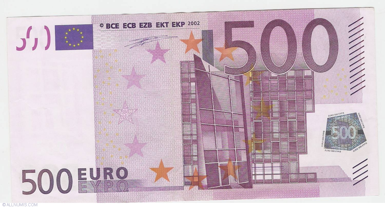 500 Euro 2002 X (Germany), 2002 Issue - 500 Euro (Signature Willem ...