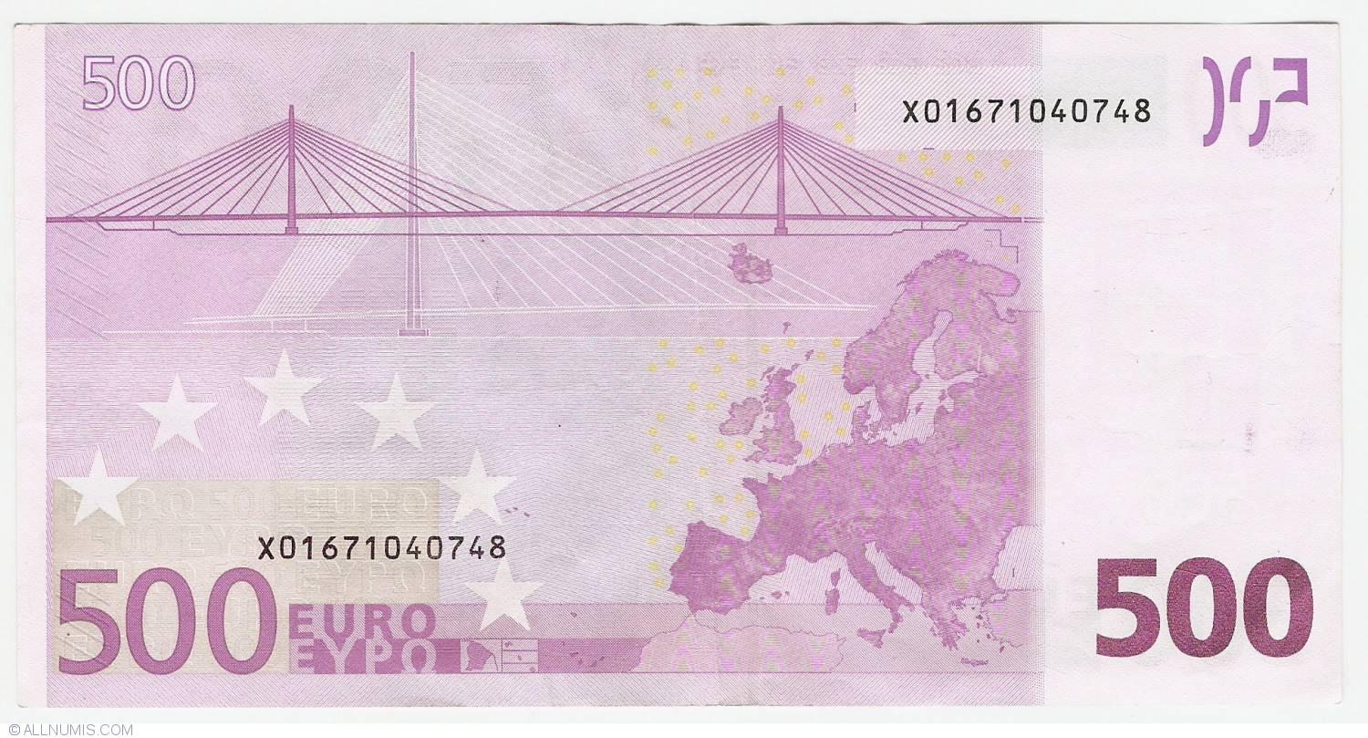 500 Euro 2002 X (Germany), 2002 Issue - 500 Euro ...