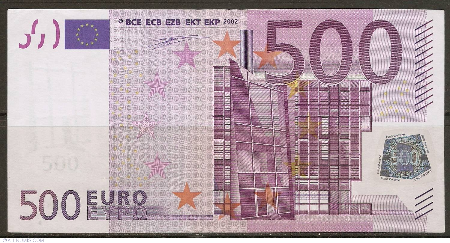Banknote of 500 Euro 2002 Z (Belgium) from European Union - ID 4496