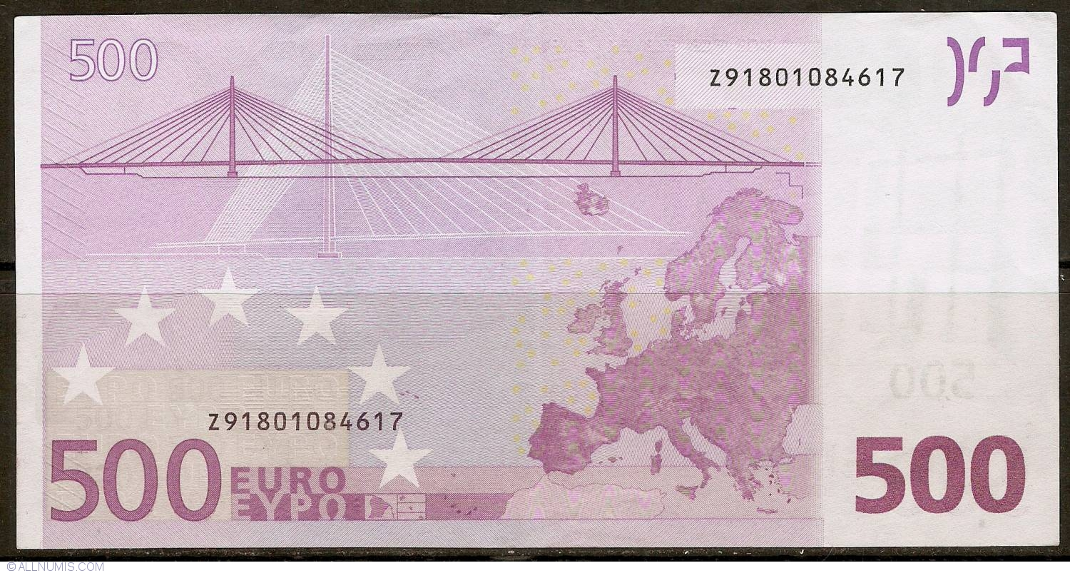 500 Euro 2002 Z (Belgium) , 2002 Issue - 500 Euro (Signature ...