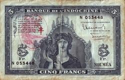 5 Franci ND (1945)