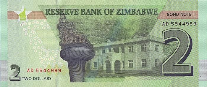 SET Zimbabwe UNC 2;5 dollars Redesigned 2017 2016 P-New