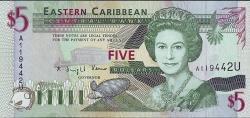 Image #1 of 5 Dolari ND (1994) - U (Anguilla)