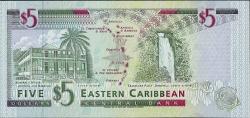 Image #2 of 5 Dolari ND (1994) - U (Anguilla)