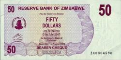 Imaginea #1 a 50 Dolari 2006 (1. VIII.) - Replacement note