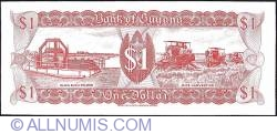 1 Dollar ND (1989) - 1st. '4' in top serial number hanging down.
