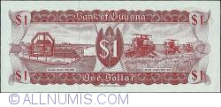Imaginea #2 a 1 Dollar ND (1966 - 1992) (1983) - signature 6