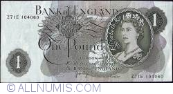 1 Pound ND - Cut off-centre in error