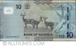 2012 Springbok//p11a UNC Namibia 10 Dollars