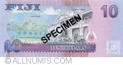 Imaginea #2 a 10 Dollars ND (2012) - Specimen