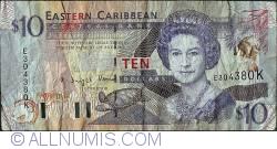 Image #1 of 10 Dollars ND(1993) - K (St. Kitts)