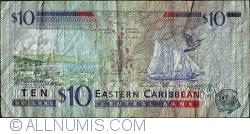 Image #2 of 10 Dollars ND(1993) - K (St. Kitts)