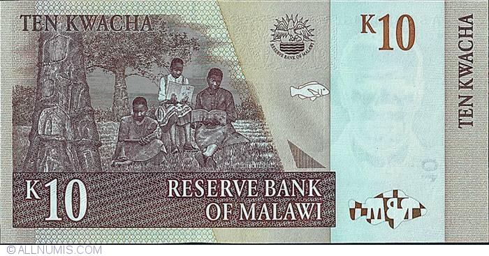 Malawi 10 Kwacha 2004  P-43  UNCIRCULATED
