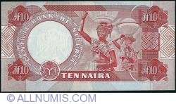 Imaginea #2 a 10 Naira 2004 - Printed & cut off centre.