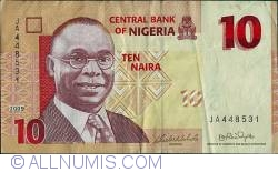 Image #1 of 10 Naira 2009 - 6 digit serial