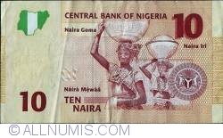 Image #2 of 10 Naira 2009 - 6 digit serial