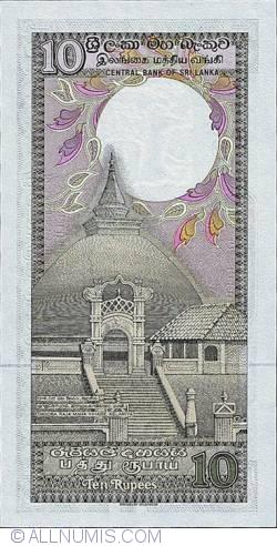 Imaginea #2 a 10 Rupees 1987 (1. I.)