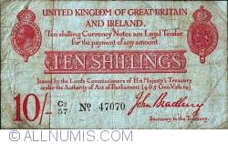 Image #1 of 10 Shillings ND(I. 1915)