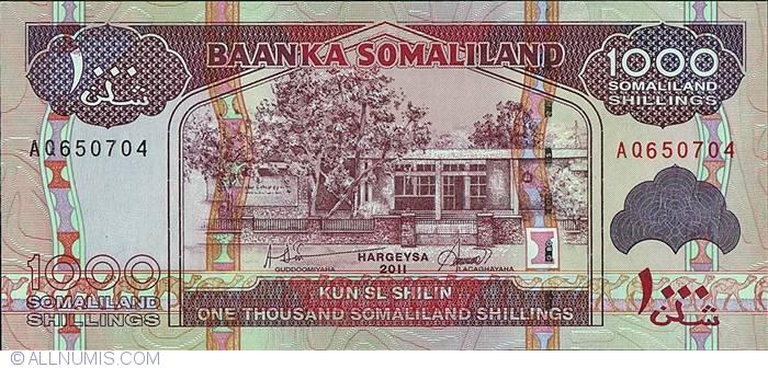 p20 /& p21 2011 Somaliland 3 Note Set: 500 1000 /& 5000 Shillings - p19