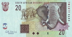 20 Rand ND(2009) - signature Gill Marcus