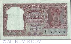 Image #1 of 2 Rupees N.D. (1949-57) - Incorrect Hindi inscription