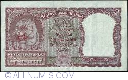 Image #2 of 2 Rupees N.D. (1949-57) - Incorrect Hindi inscription