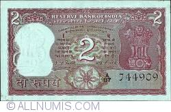 Imaginea #1 a 2 Rupees ND (B) - semnătură Dr. I.G.Patel