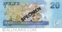 Imaginea #2 a 20 Dollars ND (2012) - Specimen