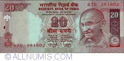Image #1 of 20 Rupees ND (2002) - signature Y. V. Reddy (89)