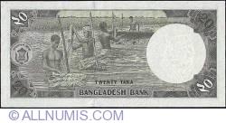 Imaginea #2 a 20 Taka ND (1988) - semnătură Nurul Islam