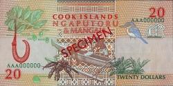 Image #2 of 20 Dollars ND(1992) - SPECIMEN.