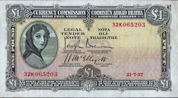 Imaginea #1 a 1 Pound 1937 (21. VII.)