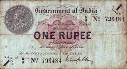 Imaginea #1 a 1 Rupee 1917