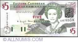Image #1 of 5 Dollars ND (2003) - (K - St. Kitts)