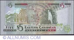 Image #2 of 5 Dollars ND (2003) - (K - St. Kitts)