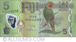 Imaginea #1 a 5 Dollars ND (2012) - Replacement Note