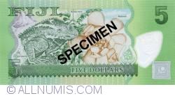Imaginea #2 a 5 Dollars ND (2012) - Specimen