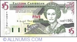Image #1 of 5 Dolari ND (1994) - L (St. Lucia)