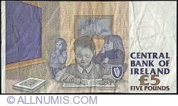 Imaginea #2 a 5 Pounds 1998 (14.IX.) - semnături M. O'Conaill/ P. H. Mullarkey
